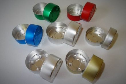 Aluminium Tealight Cups - Red/Green/Gold/Silver